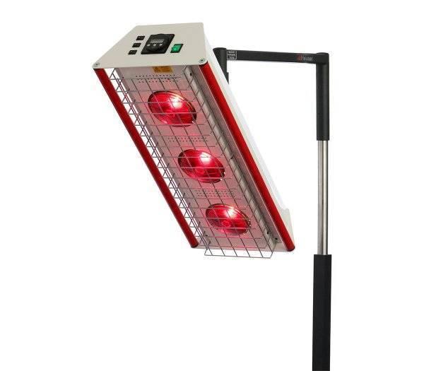 Heuser Rotlichtrahler TGS 3.2 mit 3 Lampen und Schutzgitter NEUWARE