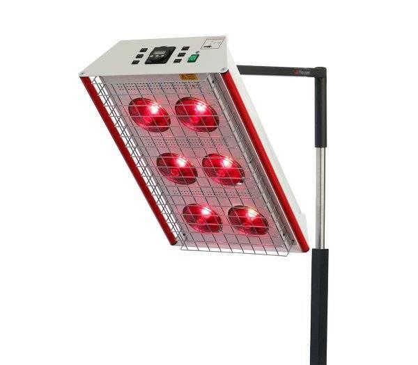 HEUSER Rotlichtstrahler TGS 6.2 mit 6 Lampen und Schutzgitter